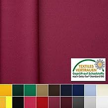 OEKO-TEX® Tela de algodón con ligamento de sarga - Lavable, no se destiñe y duradero - Por metro (Berry)