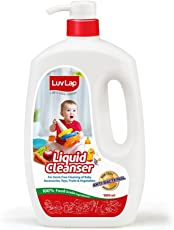 Luvlap Anti-Bacterial Baby Bottles Accessories and Vegetable Liquid Cleanser, 1000ml