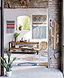 Miavilla Wandgarderobe Kaktus - Garderobe mit 5 Haken - Holz - Natur Weiß