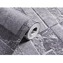 GXX 3D imitación Ladrillo azulejo patrón papel tapiz/Dormitorios sala de estar TV fondo pared de pantalla/ ropa tienda ladrillos cultura piedra papel pintado-B