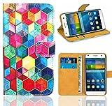 Huawei Ascend G7 Custodia Cover Case, FoneExpert Flip Cover Case Custodia Pelle accessori Protective Cover per Huawei Ascend G7 (Pattern 2)
