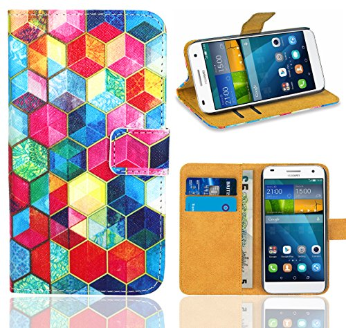 FoneExpert® Huawei Ascend G7 Handy Tasche, Wallet Case Flip Cover Hüllen Etui Ledertasche Lederhülle Premium Schutzhülle für Huawei Ascend G7 (Pattern 2)
