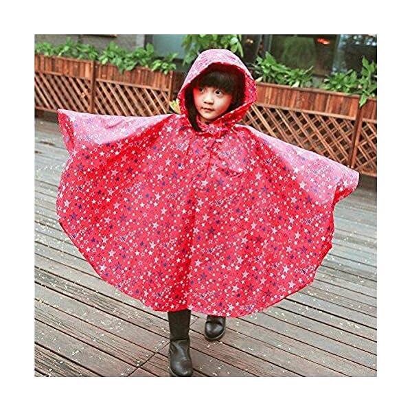 Niños Ponchos lluvia Outwear abrigo impermeable ropa de deportes al aire libre ropa Rainwear 3