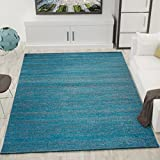Teppich Modern Wohnzimmer Türkis Kurzflor Meliert Farbecht Pflegeleicht Schadstoff Geprüft 60x110 cm