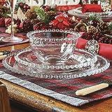 6persona coperto di vetro bella perle di lusso in rilievo cena servizio stoviglie