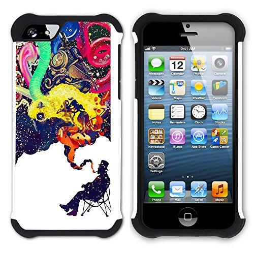 Graphic4You Curves On Canvas Digital Art Muster Design Hart + Weiche Kratzfeste Hülle Case Schale Tasche Schutzhülle für Apple iPhone SE / 5 / 5S Design #12