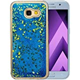 "Coque Samsung Galaxy A5 2017 Silicone Nnopbeclik® Paillettes Briller Style Backcover Doux Soft Transparente Housse pour Samsung Galaxy A5 2017 Coque Silicone (5.2 Pouce) Antichoc Protection Antiglisse Anti-Scratch Etui ""NOT FOR A5 2016/2015"" - [Bleu1]"