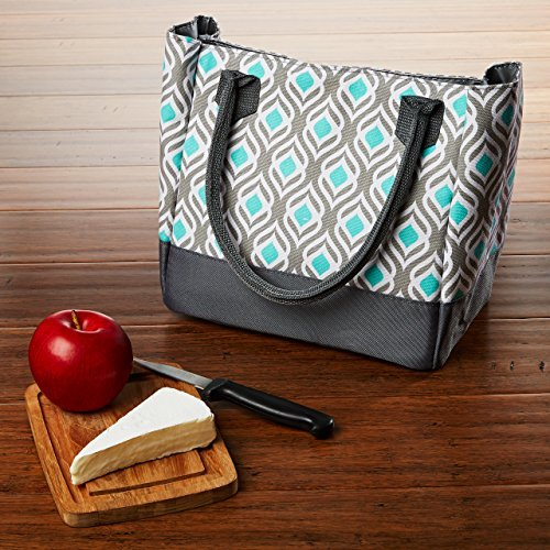 fit-and-fresh-vienna-insulated-lunch-bag-with-reusable-ice-pack-gray-aqua-leaf