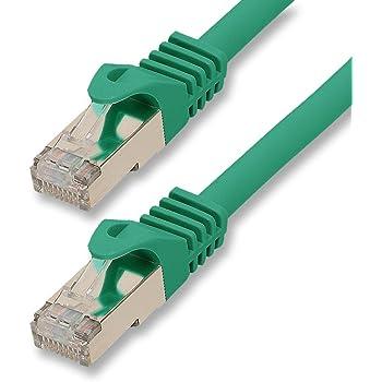 30m - verde - 1 pezzo - CAT.7 Cavi di Rete CAT7 - 10000 MBit/s | S-FTP | doppia schermatura PIMF | 600MHz | 4x2xAWG26 / 7 CU rame | non contiene alogeni | compatibile con CAT 5e / CAT6 / CAT 6a | 10 / 100/1000 / 10000Mbit / s | per switch, router, modem, Patchpannel, Access Point, Internet, Smart TV, Xbox, Playstation, pannelli di permutazione