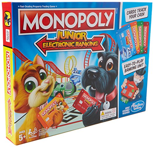 Hasbro Gaming E1842 Monopoly Junior Elektronisches Bankingm