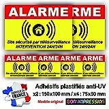 Autocollant Alarme + plastification de Protection Anti UV : Site sécurisé par télésurveillance - Intervention 24H/24H - ARJ (Lot 1 : 2+4)