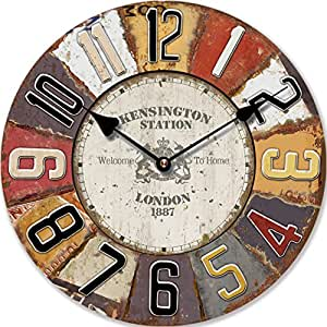 wall clock design london antique round clock 30cm diameter tinas collection the different. Black Bedroom Furniture Sets. Home Design Ideas