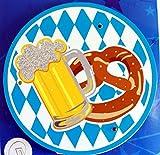 Feste Feiern Zum Oktoberfest I Accessoires Hut Brille Hosenträger Tasche Bayrisch Blau Raute zur Wiesn Dirndl Party (LED Bierdeckel)