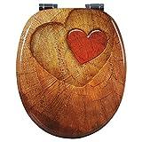 WOLTU Copriwater Bagno Sedile WC Universale in Legno Chiusura Ammortizzata Soft Close Toilet Seat WS2655