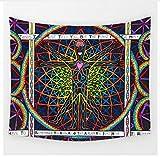 Yzrh Personnalisé Géométrique Irrégulier Hippie Mandala Motif Tapisserie Peinture Abstraite Art Tenture Murale Gobelin Salon Décor Artisanat B73