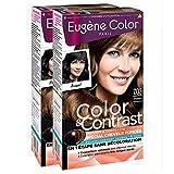Eugène Color Color & Contrast Coloration Permanente pour Cheveux Foncés Praline 7,03 - Lot de 2
