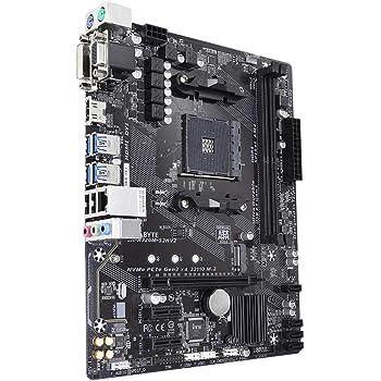Gigabyte GA-A320M-S2H V2 (rev. 1.1) Socket AM4 AMD B350 Micro ATX - Cartes mères (DDR4-SDRAM, DIMM, 2133,2400,2667,2933,3200 MHz, Dual, 32 GB, AMD)