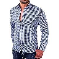 Manadlian T-Shirt Hommes, Shirts Homme Chemise MâLe Manches Longues Slim Fit Business T-Shirt