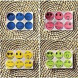 CINDY LOVER 6 Packungen Schöne Nette Smiley Mückenschutz Aufkleber Nützliche Patches Citronella Öl für Kinder Baby