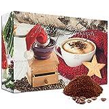 Kaffee-Adventskalender (Gemahlen) 2017 mit 23 Biologischen, Raritäten- und Fair gehandelten Kaffees aus Aller Welt und Überraschungs-Kaffeezubehör