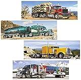 Unbekannt 2 Stück: Mini Puzzle / Minipuzzle 220 Teile - Trucks / Auto / Fahrzeuge - für Kinder Kinderpuzzle Minipuzzle Lastkraftwagen LKW - amerikanische Wagen Road Train Sattelzug