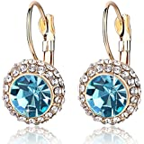 Rolicia Moon Pie Czech Crystal 2.5*1.5 cm Earrings Drops Studs Swarovski Design Gift Box