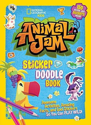 Animal Jam Sticker Doodle Book (Club-car-computer)
