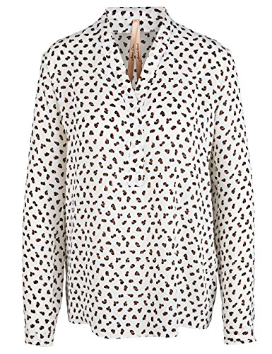 Marc Cain Additions Damen Bluse Mehrfarbig (Off-White 110)