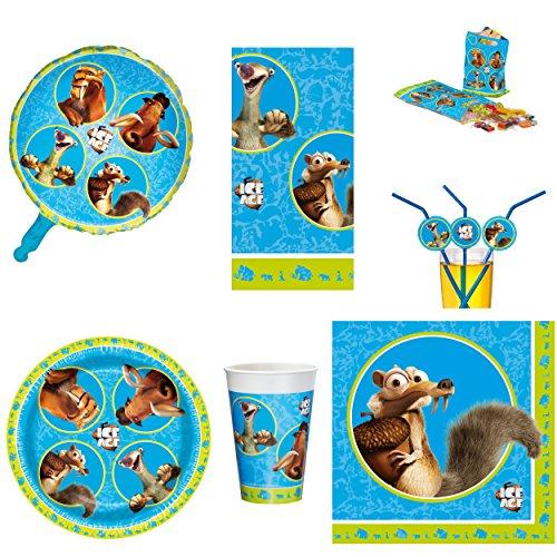 Preisvergleich Produktbild Ice Age Kinder Geburstag Party Set Teller Becher Tischdecke Servietten
