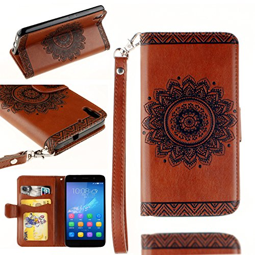Leather Case Cover Custodia per Huawei Y6 / Honor 4A