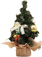 Weihnachtsbaum - Mini Weihnachtsbaum Geschmückt, Weihnachtsdeko Für Tische & Schreibtische - Perfekt Für Zu Hause & Im Büro - Grün - (20 * 12cm)