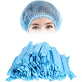 NUVO MEDSURG Disposable Bouffant Surgical Head Cap Pack Of 100 (Blue)