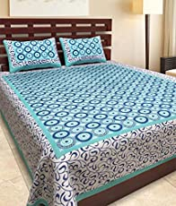 Bombay Spreads Traditional Printed Cotton Bed Spreads - King Size, Multicolour