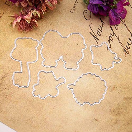 bhty235, Durchsichtiger Transparent Stempel DIY Collage Metall Stahl Schneiden Prägestempel Kit Für DIY Einladung Scrapbook Album Handwerk (Diy Einladung Kits)