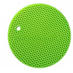 ADITYA INFO Flexible Honeycomb Silicone Round Pot Holder Non-slip Durable Heat Resistant Placemat Table Mat