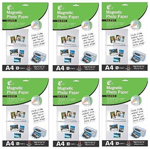 A4magnetisch Drucker Glanz Foto Papier 2Blatt für den Gebrauch auf Tintenstrahldrucker