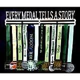 EVERY MEDAL TELLS A STORY Medal Hanger. Running / Sports Metal Medal display hanger. Large size. Double slider rail…