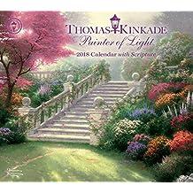 Thomas Kinkade Painter of Light 2018 Calendar With Scripture