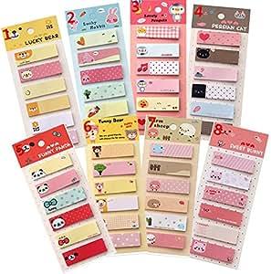 Katara Lovely Sticky Notes Book, Mini Scratch Pad schöne Motive (Tiere etc.) Sortiert