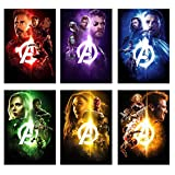 #3: AdINFINITUM 300 GSM Paper Marvel Avengers Infinity War Print Poster (Multicolour, 9x13-inch) - Set of 6