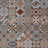 Orientalische Wandfliese marokkanische Bodenfliese Keramikfliese Maurische Mosaik Fliese Patchwork BALAT 45 x 45 cm