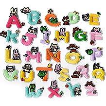 ZHOUBA 26 - Juego de parches bordados con letras inglesas para coser o planchar, multicolor