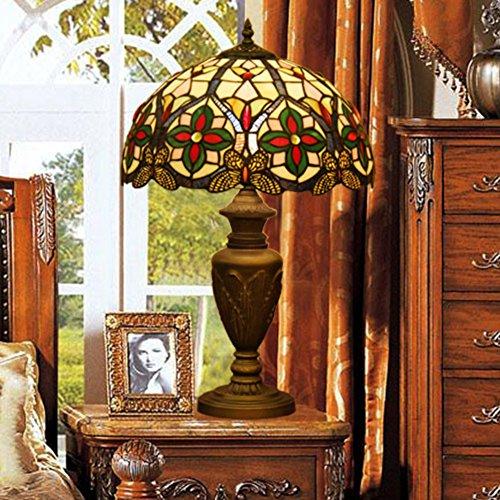 Tiffany-Stil Tischleuchte/Stained Glass Retro-Tischlampe/Iris-dekorative Nachttisch-Lampe-A (Tiffany Iris)