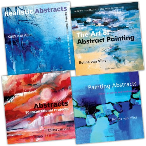 Rolina Van Vliet 4 Books Collection Pack Set (Painting Abstracts: Ideas, Proj...