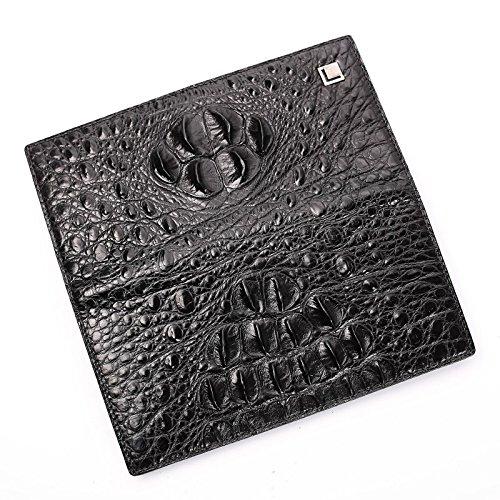 lpkone-Motif crocodile cuir long bi-fold wallet card wallet men fashion 20% portefeuille paquet de carte Deluxe Edition