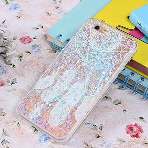 iPhone 6/6S Hülle - 3D Kreatives Design Luxus Shiny Flow Sand Entzückende Fließende Schwimmende Moving Shiny Glitzer Sequins Bling Cute Pattern Shell für iPhone 6/6S - Girl Boss 12-A