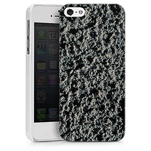 Apple iPhone X Silikon Hülle Case Schutzhülle Lavastein Struktur Stein Muster Hard Case weiß
