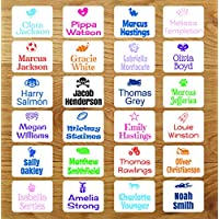 Stick On Clothing Name Labels, Personalised with image & Name - NO IRON