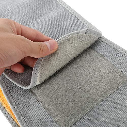Chaud Abdomen Support, Support de taille ajustable avec garniture intérieure en peluche, unisexe pour l'hiver(L)