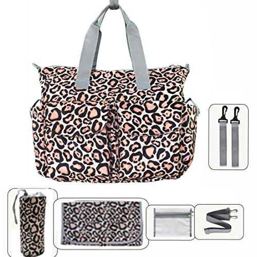 My Share Mall Wickeltasche, Tragetasche, Blumendesign leopard
